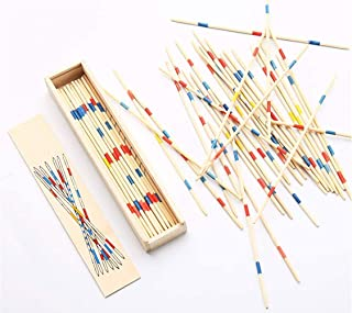 Dr. Lee Pick Up Sticks Game - 93 Pcs Wooden Family Floor Game Accessories at Home for Kids, Birthday Gifts, Play Party Favors