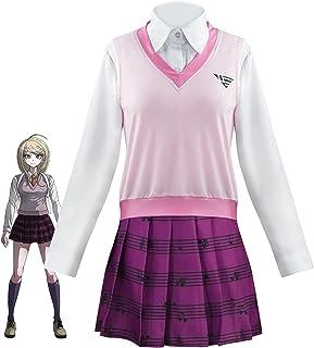 DONGYAO Disfraz de cosplay Danganronpa V3 Cosplay Disfraces Akamatsu Kaede Uniforme Anime Cosplay Ropa Falda Mujer Fiesta ...