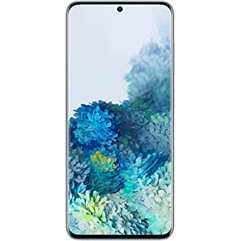 Samsung Galaxy S20 5G Factory Unlocked New Android Cell Phone US Version | 128GB of Storage | Fingerprint ID and Facial Recognition | Long-Lasting Battery | Cloud Blue (Renewed)