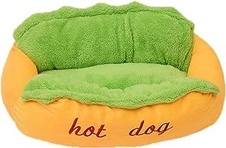 Hot Dog Pet Bed Soft Cushion Dog House Washable Puppy Kitten Sleeping Sofa (Large)