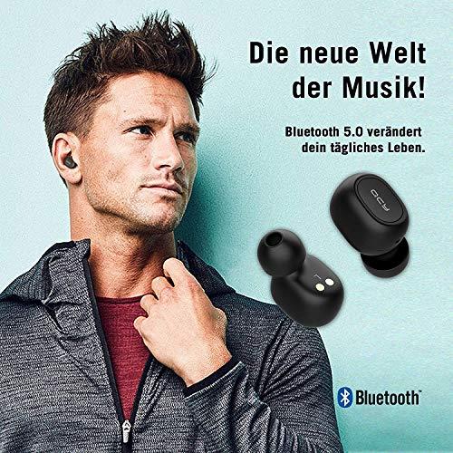 QCY T1 Bluetooth 5.0 Sport-Kopfhörer In-Ear, 20 Stunden Akkulaufzeit, Wireless kabellos für iPhone Android mit starkem Powerbank, IPX4 wasserdicht und Mikrofon Bild 6*