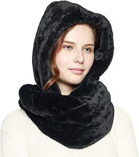 Women's Soft Faux Fur Infinity Scarf & Infinity Hood Scarf Head Scarf Wrap (2 Styles)