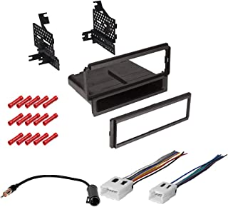 CACHÉ KIT1093 Bundle with Car Stereo Installation Kit for 2008 – 2012 Nissan Pathfinder S Model – in Dash Mounting Kit, Harness, Antenna for Single Din Radio Receivers (4 Item)