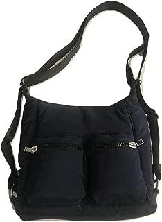 Hobo Crossbody Handbag with Adjustable Strap - Navy-4987