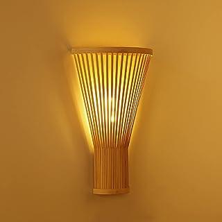 Mainen Applique Murale Interieur LED, Lampes de couloir d'applique murale en bambou simple, Luminaire Mural moderne pour C...