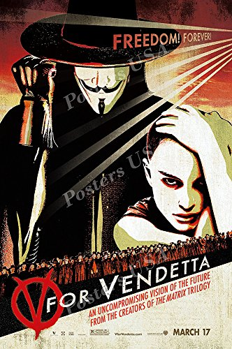 "Posters USA V For Vendetta Movie Poster GLOSSY FINISH - FIL185 (24"" x 36"" (61cm x 91.5cm))"