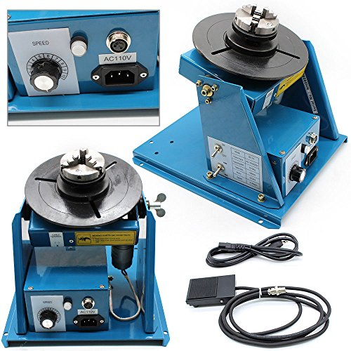 Turntable,TBVECHI,Rotary Welding Positioner Turntable Table 370 270 215mm,BY series Light Positioner