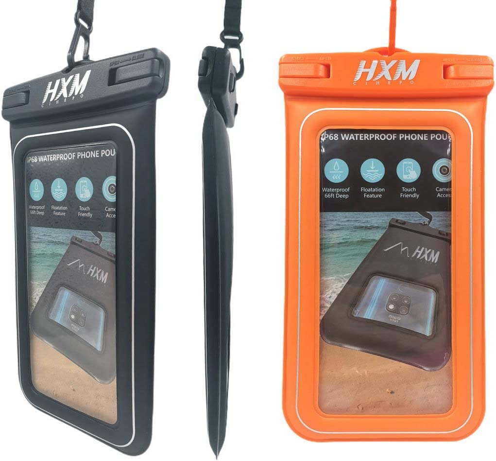 2 Pack Waterproof Phone Pouch Floating, Upgraded Foam-pad Shockproof Phone Case, Universal Cellphone Dry Bag for Water Sports and Outdoor Compatible Smartphone Up to 7.0