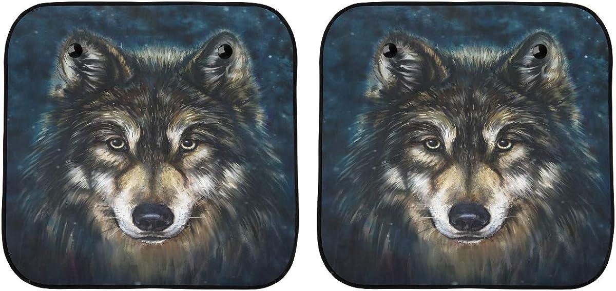 Lajro Sun 1 year warranty Shade for Car Windshield Painting Wo Japan Maker New Digital Head Wolf