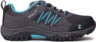 Official Gelert Horizon Low Waterproof Walking Shoes Boys Charcoal/Blue Trainers Footwear