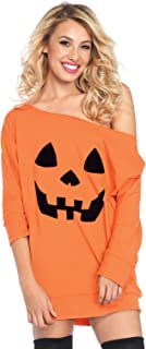 Women's Pumpkin and Ghost Halloween Shirt Dress Costume