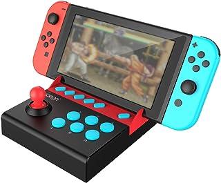 【ipega公式製品】小型アーケード ミニアケコン アーケードコントローラー ミニファイティングスティック 格闘ゲームコントローラー TURBO連射機能搭載【Nintendo Switch専用】【日本語取扱説明書】