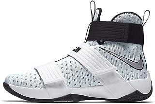 premium selection 56a4e 1b2a2 Nike Lebron Soldier 10 to Lebron James Blanc Argent Noir 844380–100 Taille  10.5
