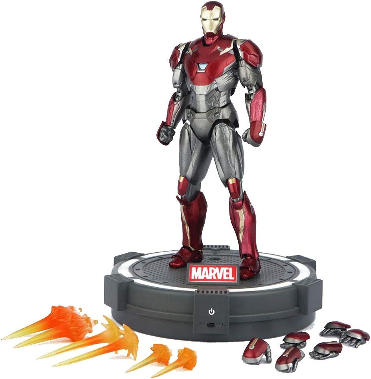 GXHLLYZY Iron uomo modello Giocattoli per Bambini, Iron uomo azione cifra - 6 Pollici Altezza 15cm Titan Hero Series azione cifra (Coloree   giocattolo+Base 1)