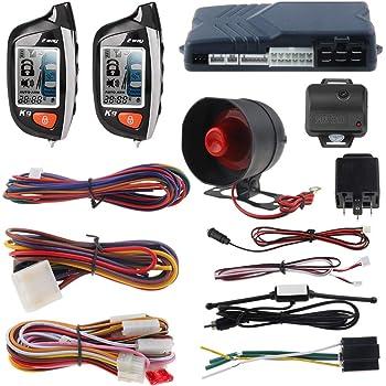 Amazon.com: EASYGUARD EC200-K9 2 Way Car Alarm System with LCD Pager  Display Remote Engine Start Turbo Timer Mode Shock Alarm DC12V Long Remote  Range: AutomotiveAmazon.com
