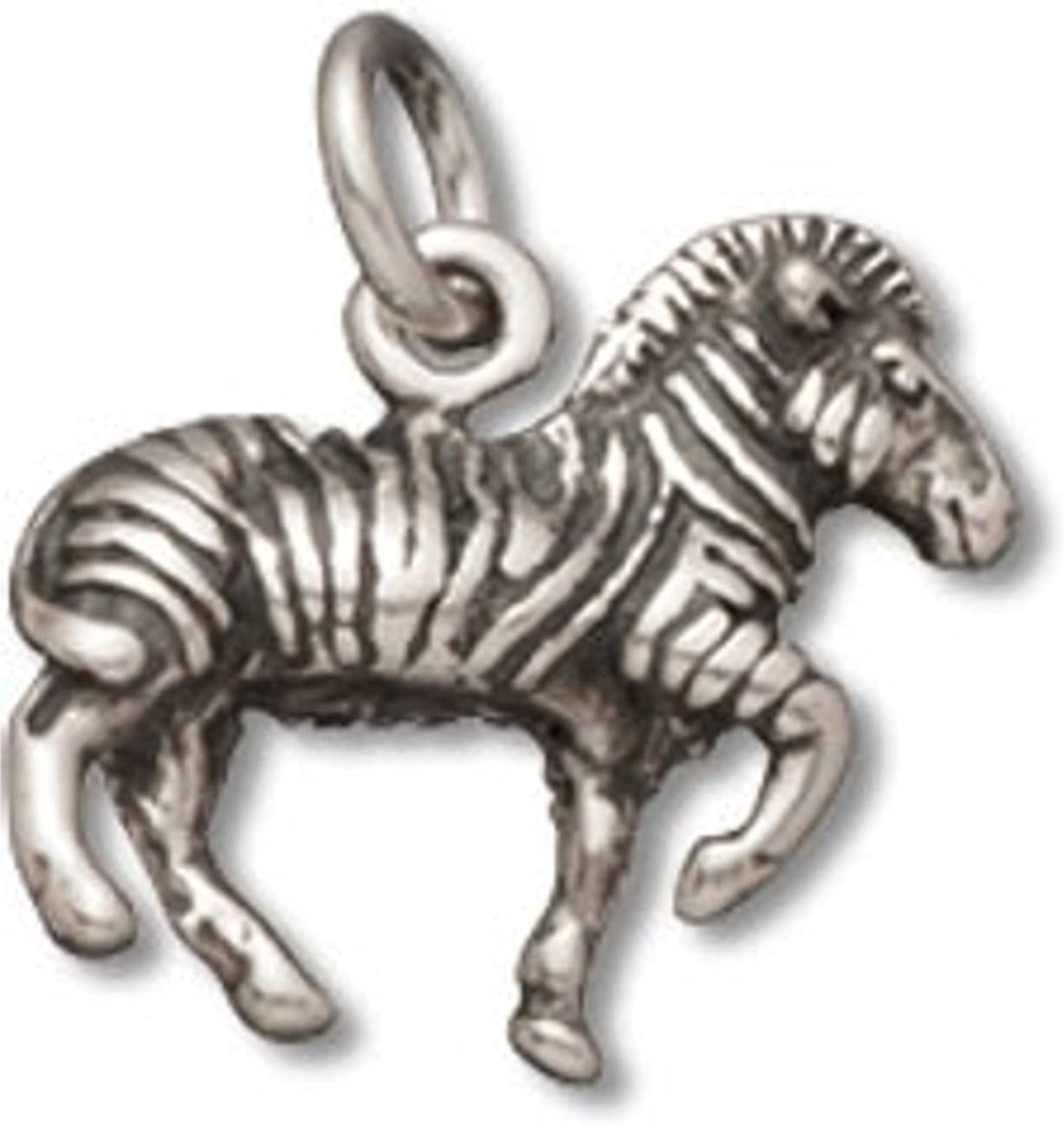 Sterling Silver Girls .8mm Box Chain Zebra 67% OFF of fixed price Standing P Discount is also underway 3D Striped