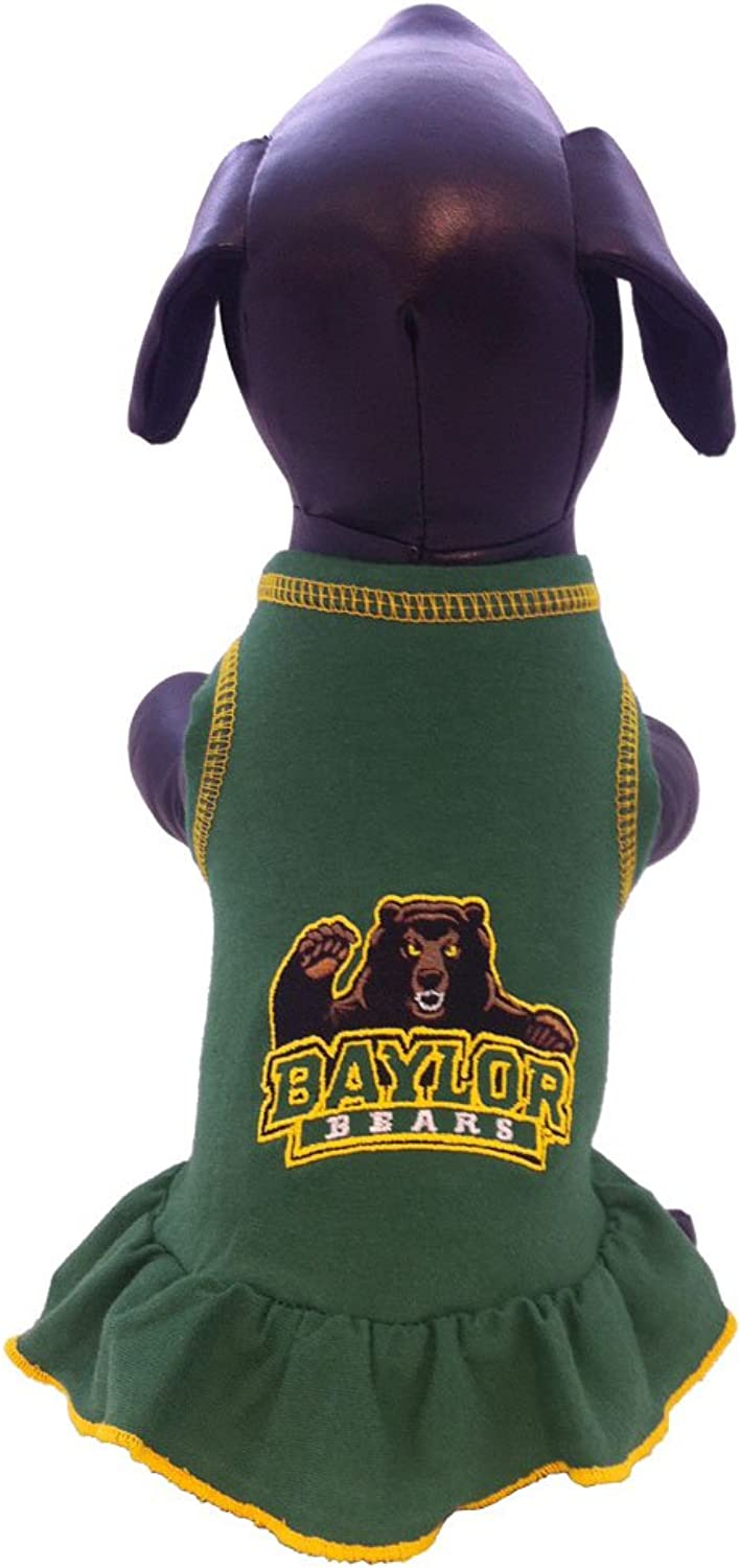 All Star Dogs Baylor Bears Collegiate Cheerleader Dog Dress (Large)