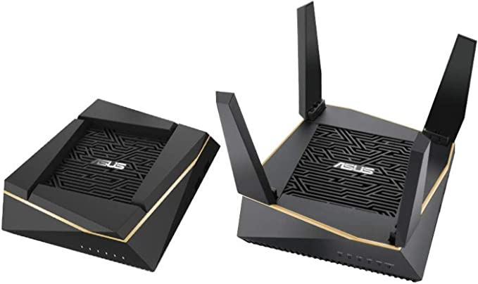 ASUS RT-AX92U Ai-Mesh Kit - Sistema dual Broadcom Dual Core WiFi AiMesh AX6100 Tri-Banda Gigabit (OFDMA, MU-MIMO, Triple VLAN, Wifi 6, Adaptive QoS, AiProtection PRO), Pack de 2 unidades (240m2)