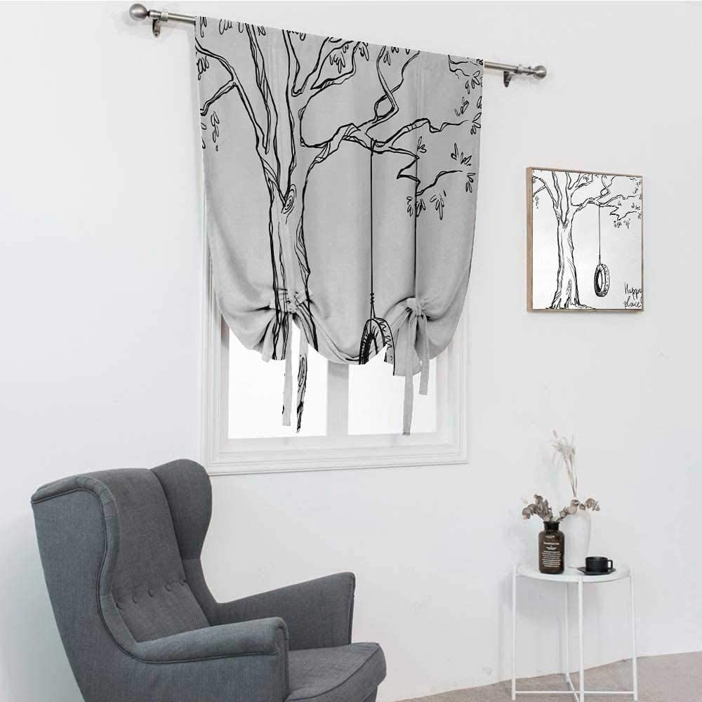 GugeABC Tree Roman Shades for Windows, Tree with a Tire Swing Il