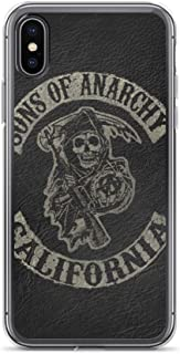 iPhone 7 Plus/8 Plus Case Anti-Scratch Television Show Transparent Cases Cover The Sons of Anarchy Tv Shows Series Crystal Clear