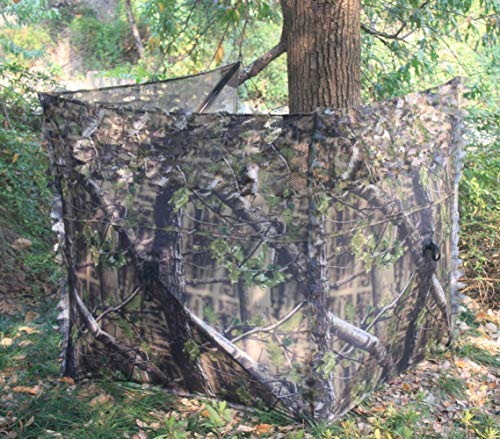 Chameleon Hides Pigeon Shooting Pop Up Blind Hide Net in Green Camo Pattern 3 Panel Design 130 x 130cm