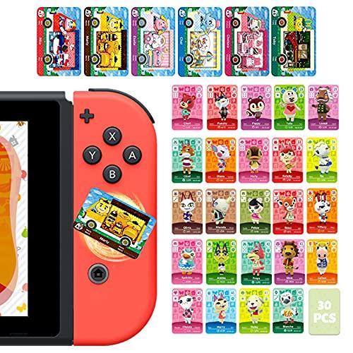 DLseego ACNH 30 piezas Mini NFC Game Tag Rare Character Villager Tarjetas para Animal Crossing New Horizons, tarjeta Amiibo para Switch/Lite, Wii U y 3DS con caja de almacenamiento (Series25-48)