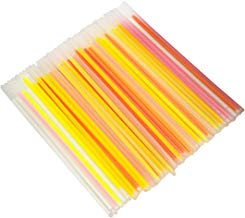 Pellisilot 100 Palos Brillantes Brillantes/Palos Fluorescentes/Pulseras Collares Luces de neón/Palos Luminosos para Bodas