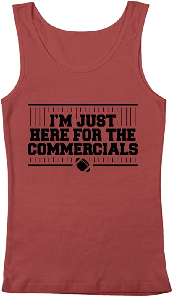 GEEK TEEZ I'm Just Here for The Commercials Football Men's Tank Top