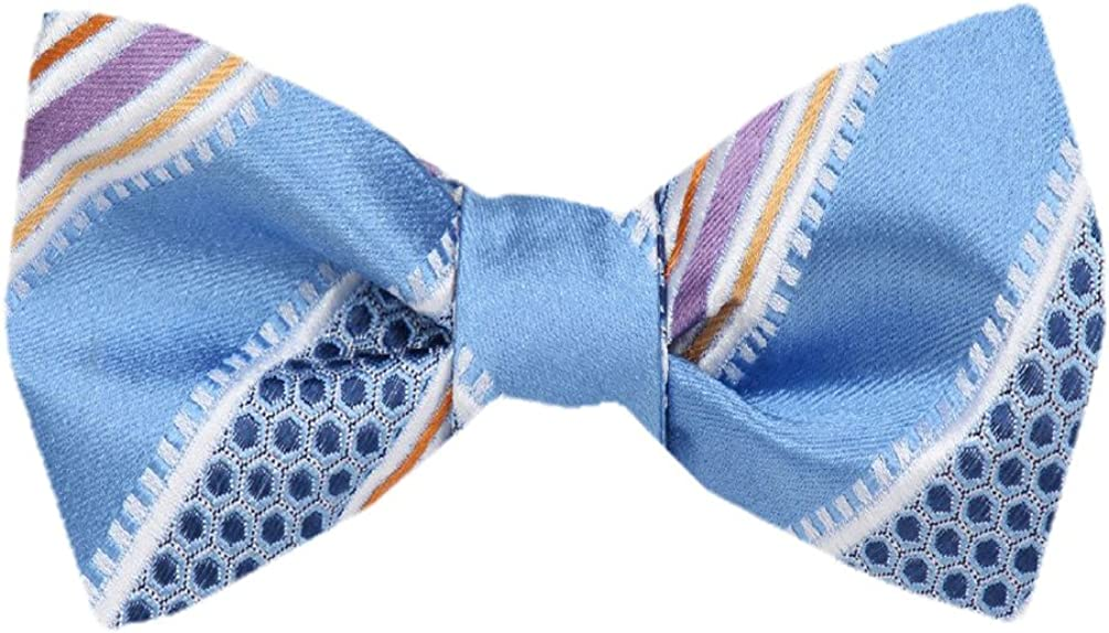 FBTZ-1306 - Men's Silk Self Tie Bowtie Tie Yourself Bow Ties
