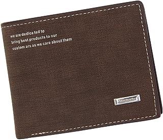 BeniNew men's wallet short multi-function large capacity matte-brown