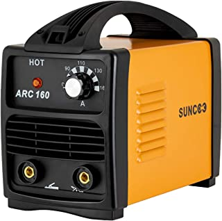 SUNCOO 160A ARC Welding Machine 110V Mini Energy-saving Portable Stick Welder with Mask and Brush Yellow