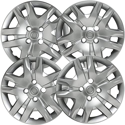 new arrival 16 inch Hubcaps Best for 2010-2012 Nissan Sentra - (Set of 4) Wheel Covers 16in Hub lowest Caps Silver Rim Cover - Car Accessories for outlet sale 16 inch Wheels - Bolt On Hubcap, Auto Tire Replacement Exterior Cap online