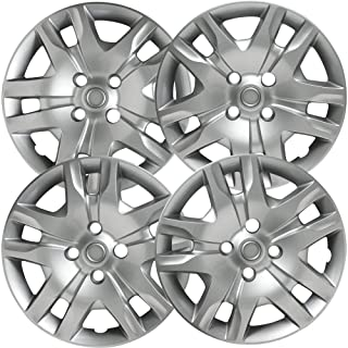 16 inch Hubcaps Compatible with 2010-2012 Nissan Sentra - (Set of 4) Wheel Covers 16in Hub Caps Silver Rim Cover - Car Acc...