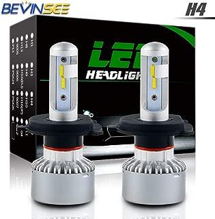 Bevinsee X6 H4 9003 LED Headlight White Bulbs Kit,2pcs