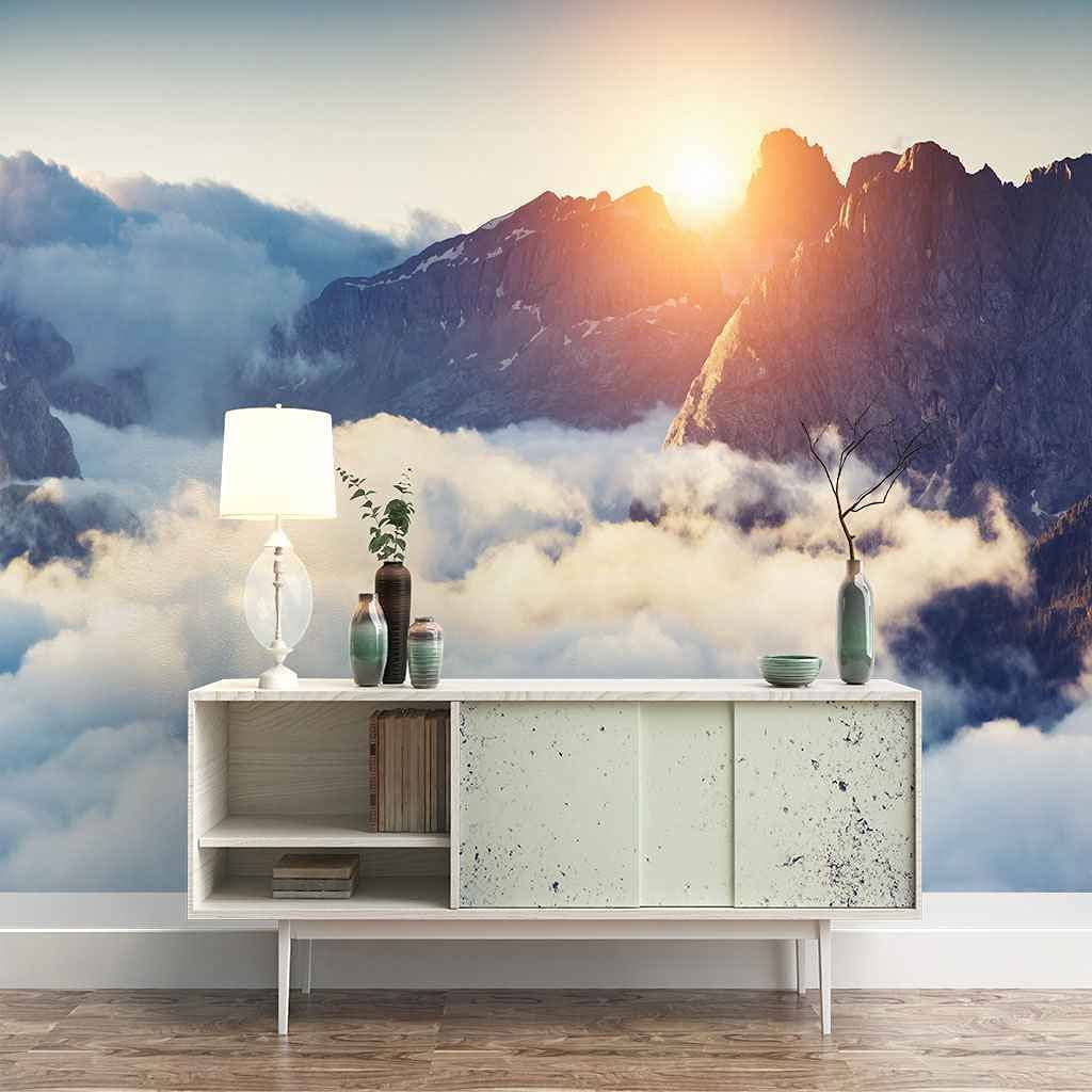 FVGKYS Wall Decals Art 3D Custom Beauty products Max 46% OFF Mural Poster Mount Cloudy White