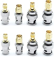 Dasunny SMA to BNC Adapter Kits 2 Set RF Coaxial Adapter Male Female Coax Connector, 8 Pieces