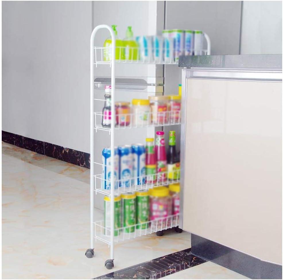 Metal Standing Shelf New Free Shipping Corner Ranking TOP19 Narrow Wheel Se Push Layering Mobile