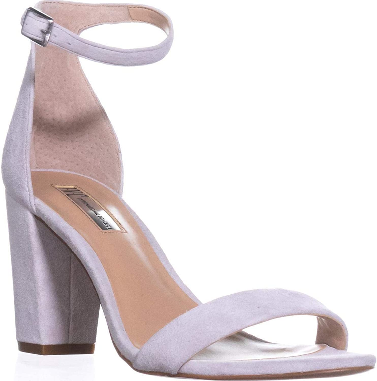 INC International Concepts I35 Kivah Ankle Strap Dress Sandals, Grey Mist, 8.5 US