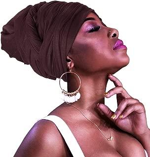 HOMELEX Head Wraps Turbans Stretch Jersey Knit Headwraps Wrap Scarf Turban Tie for Women