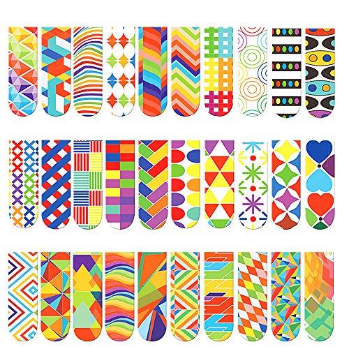 30 Stück Magnetische Lesezeichen bunt, Markierungen für Student, Niedlichen Lesezeichen, Magnetische Lesezeichen kinder, Magnetisch Lesezeichen