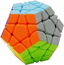 Bigood Octagon Stickless Magic Cube Speed Cube with 12 Colors
