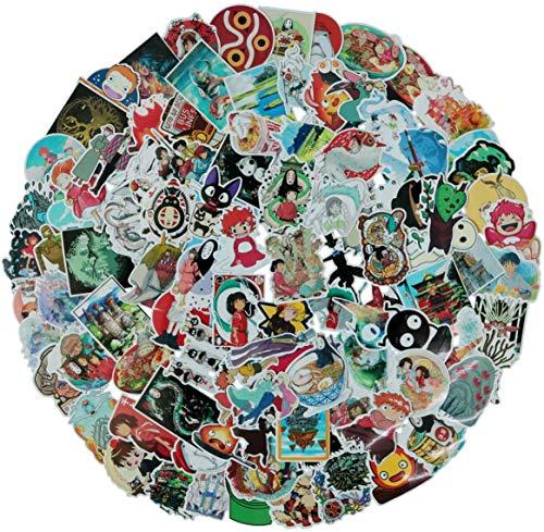 Hayao Miyazaki Stickers, 100 Stück Graffiti Decals, Wasserdicht Aufkleber, Cartoon Aufkleber, für Wasserflaschen, Laptop, Autos, Motorrad, Fahrrad, Skateboard, Gepäck, Kühlschrank, Auto-Styling