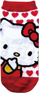 サンリオキャラクターソックス ハローキティ  ハート ホワイト?レッド 22cm~24cm HKSOC183