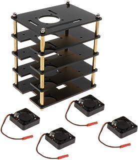 Ronyme Caixa/Caixa/Gabinete Acrílico com Ventilador para Raspberry Pi
