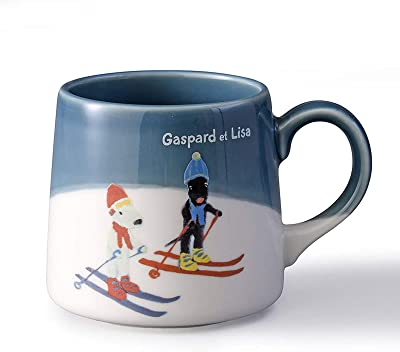 「 リサとガスパール 」 マグカップ 約260ml スキー 美濃焼 242002