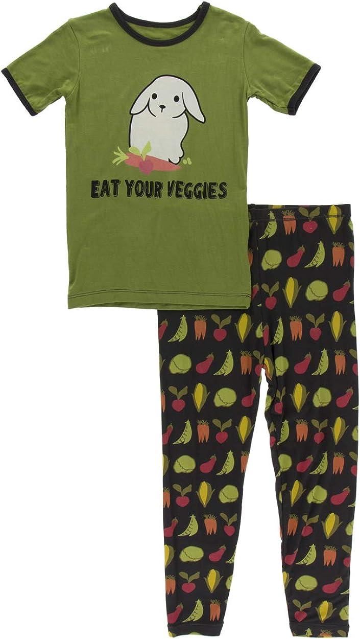 KicKee Pants Short Tampa Mall Sleeve Set Print Pajama Max 77% OFF Piece