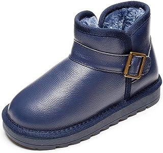 Cozy Maker(C&M)スノーブーツ ムートンブーツ キッズ 裏ボア 靴 防寒 無地 艶有り ショートブーツ 男の子 女の子