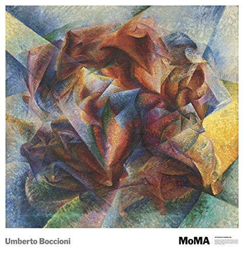 """Bruce McGaw Graphics Dynamism of A Soccer Player, 1913 by Umberto Boccioni, Art Print Poster 28"""" x 32"""""""