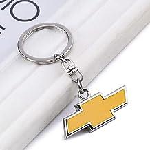 PATWAY Car Logo Key Chain Key Ring Suit for Chevrolet Car Silverado Colorado Suburban Tahoe Malibu Camaro Cruze Equinox Sonic Gift Birthday Present for Men and Woman