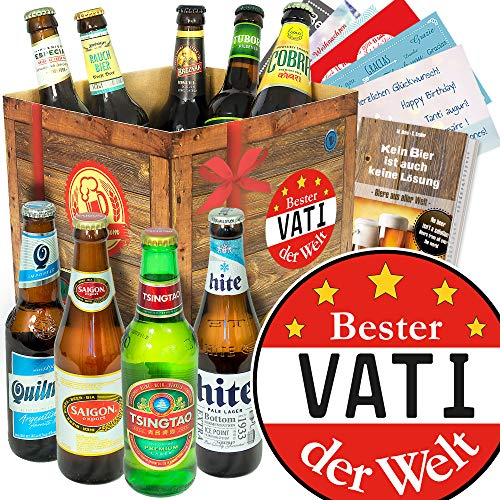 Bester Vati/Bierset aus aller Welt/Geschenk zum Geburtstag